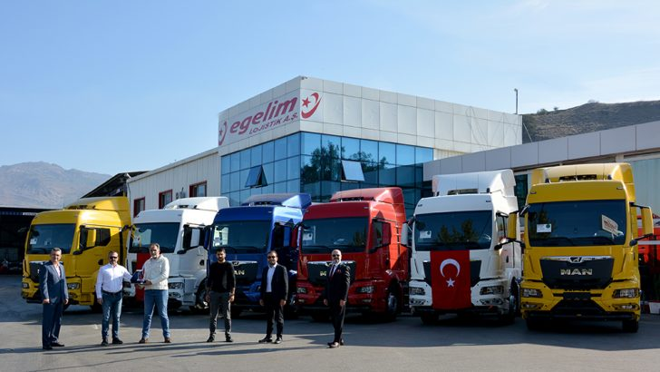 Lojistik sektörünün güçlü firması Egelim, filosuna 20 adet MAN TG3 serisi çekici kattı