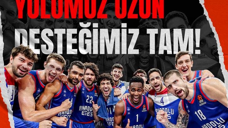 Anadolu Isuzu, Anadolu Efes Spor Kulübü'ne destek vermeye devam ediyor