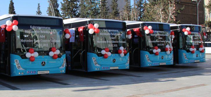 Kahramanmaraş Büyükşehir Belediyesi'nde 5 adet Mercedes-Benz Conecto Solo göreve başladı