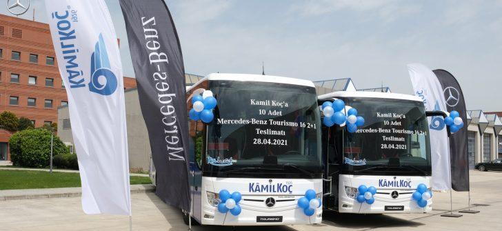 Kamil Koç, 10 adet 2021 model Mercedes-Benz Tourismo 16 2+1'i araç filosuna kattı