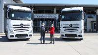 Aslantürk Lojistik, 10 adet Mercedes-Benz Actros 1848 LS siparişinin ilk 5 aracını teslim aldı