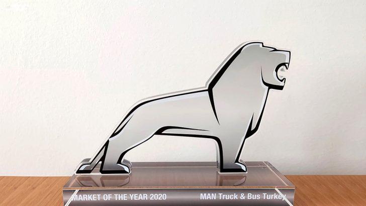 Market of the Year 2020 ödülünü MAN Kamyon ve Otobüs Ticaret A.Ş. aldı