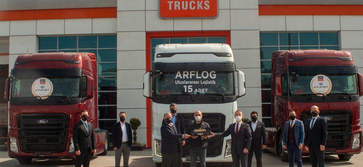 Ford Trucks'tan ARF Lojistik'e 15 adet ödüllü F-MAX teslimatı