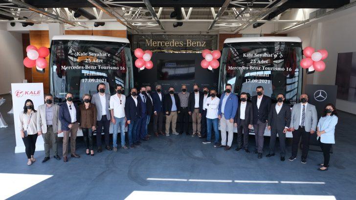 Kale Seyahat, teslim aldığı 10 yeni otobüs ile filosundaki 2021 model Mercedes-Benz Tourismo sayısını 25'e çıkardı